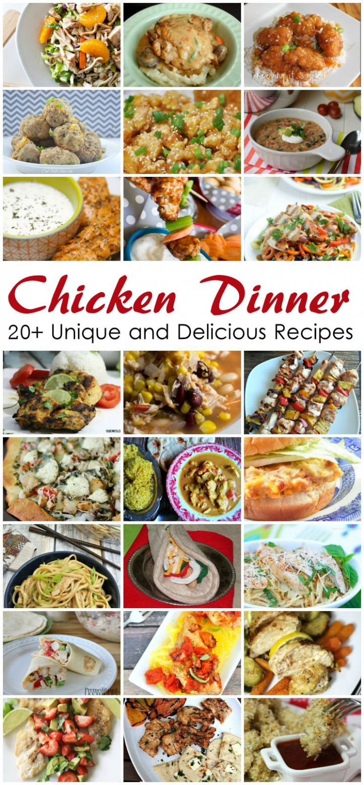 Pieces By Polly: 20+ Chicken Dinner Recipes And Weekly ..