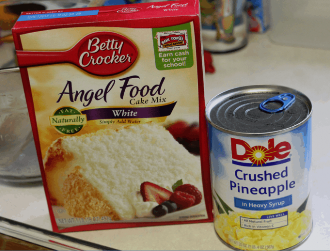 Pineapple Angel Food Cake Recipe - recipes with angel food cake mix