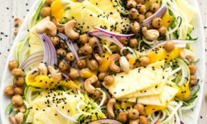 Pineapple Teriyaki Chickpea Zoodles – Zoodle Recipes Vegetarian