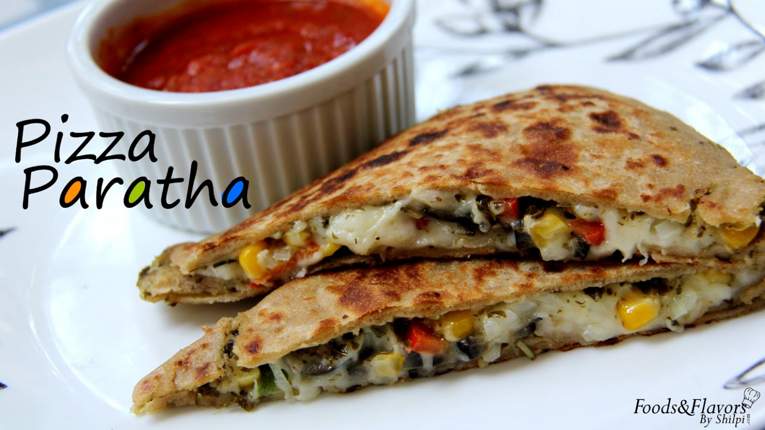 Pizza Paratha Recipe-Indian Veg Brunch breakfast recipes and ..