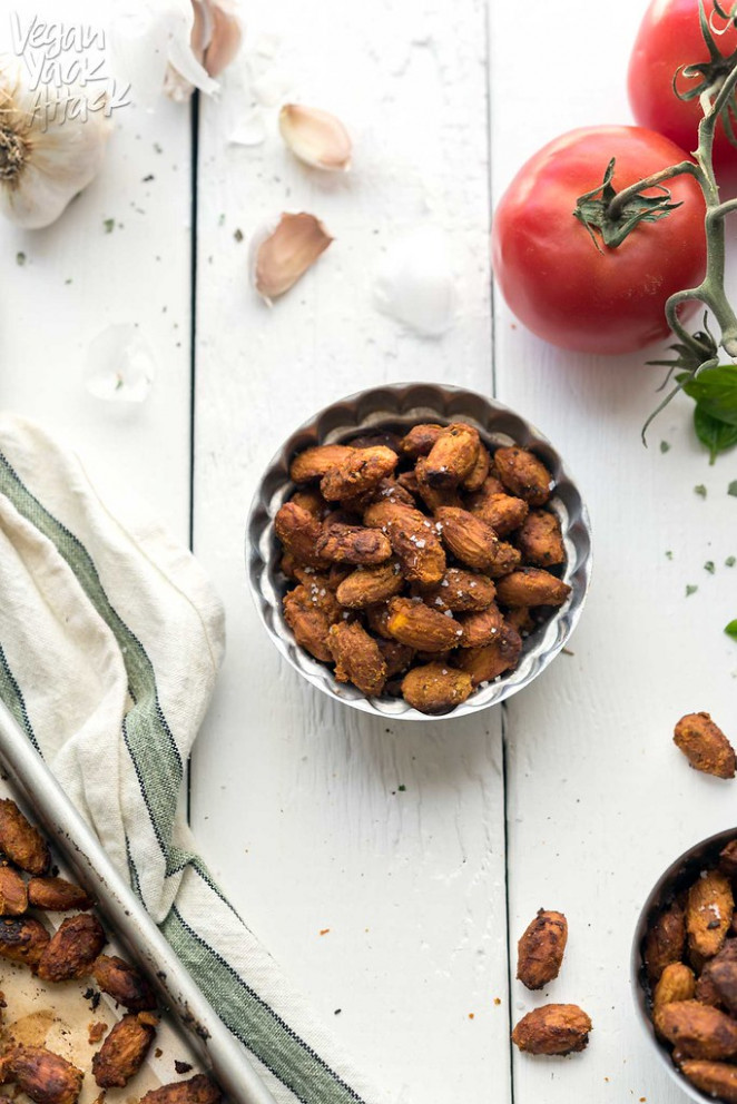 Pizza-Roasted Almonds - healthy recipes easy