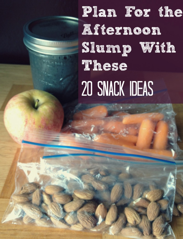 Plan for The Afternoon Slump With These 14 Snack Ideas ..