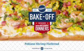 Poblano Shrimp Flatbread | Pillsbury Recipe