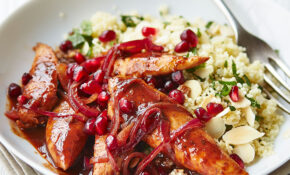 Pomegranate Chicken With Almond Couscous – Healthy Recipes With Chicken