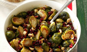 Pomegranate Hazelnut Roasted Brussels Sprouts Recipe ..