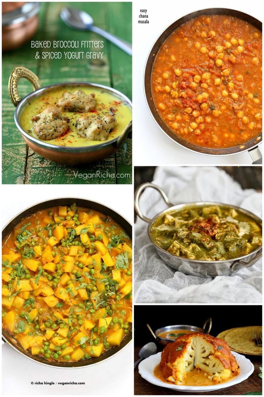 Popular Vegan Indian Curries & Entrees Recipes - Vegan Richa - easy indian recipes vegetarian