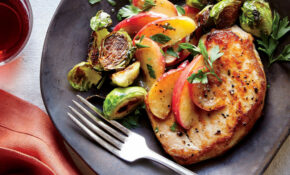 Pork Chops With Sautéed Apples And Brussels Sprouts Recipe ..