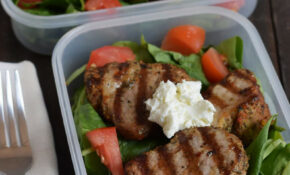 Pork Tenderloin On Spinach Salad With Tomatoes, And Topped With #awesome Goat Cheese. Recipe Coming Soon To MealPrepMondays