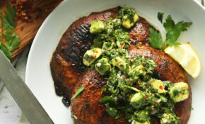 Portobello Steaks With Avocado Chimichurri – Recipes Stuffed Mushrooms Vegetarian