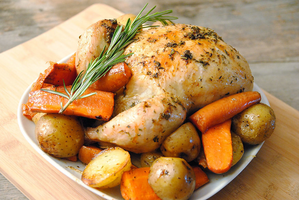 Pot-roast chicken - recipes sunday dinner
