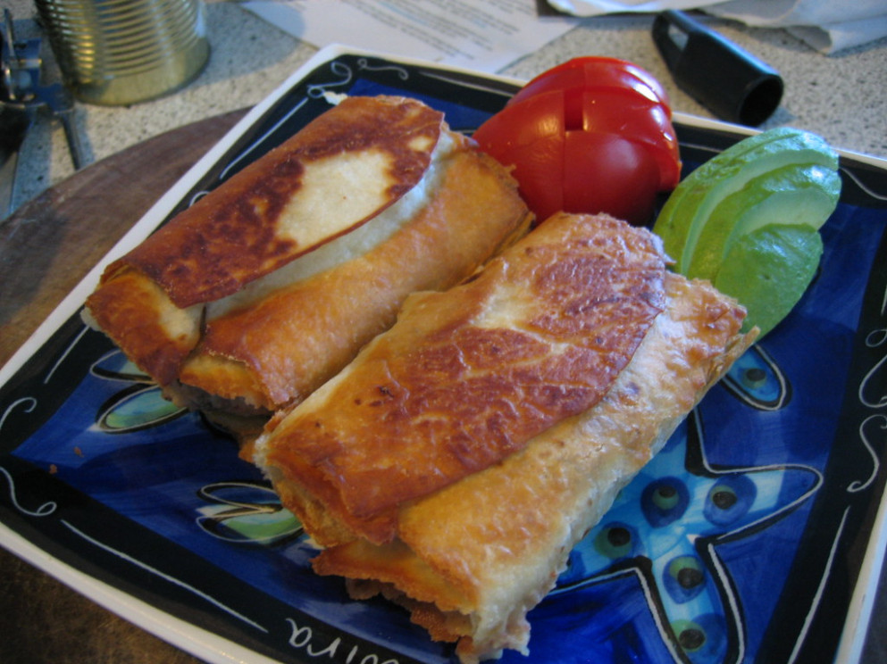 potato and bean chimichangas - healthy recipes dinner for two