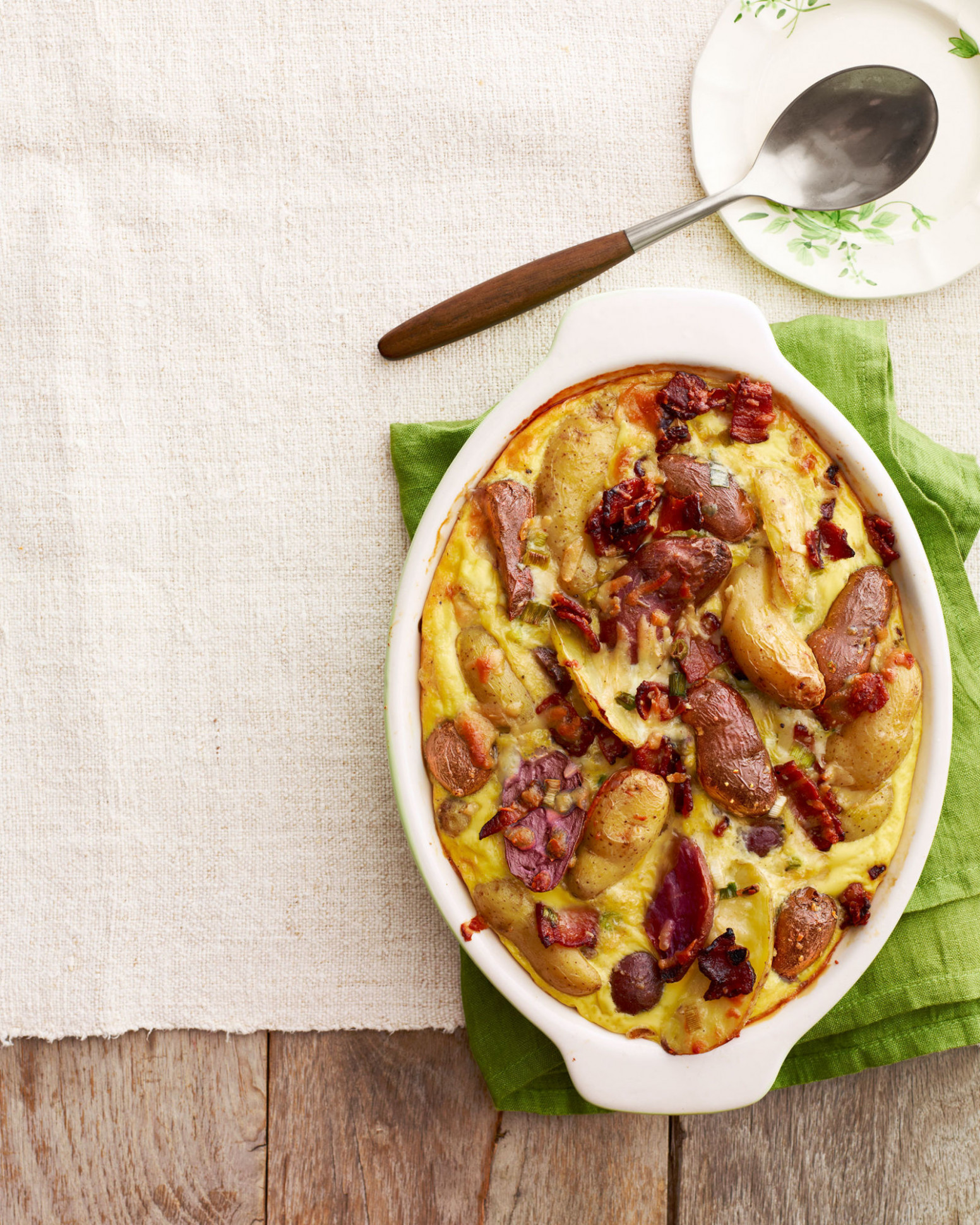 Potato and Manchego Casserole with Maple Bacon Recipe - dinner recipes using bacon