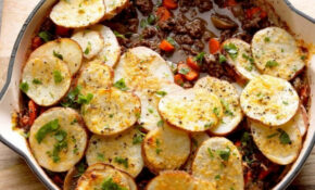 Potato Topped Ground Beef Skillet Recipe | Taste Of Home – Healthy Recipes With Ground Beef