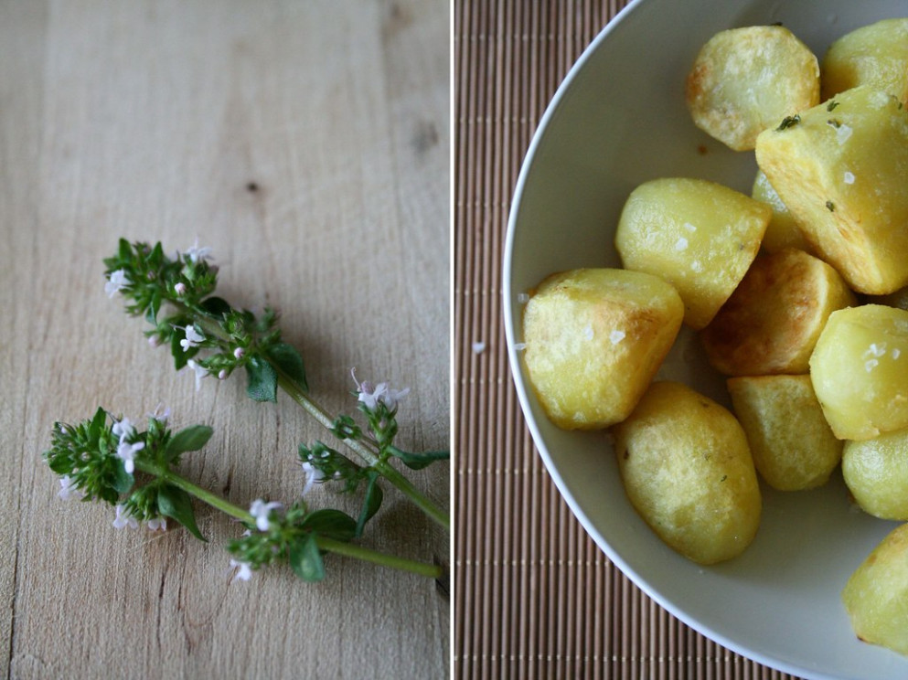 Potatoes With Thyme Flowers - Potato Recipes Dinner