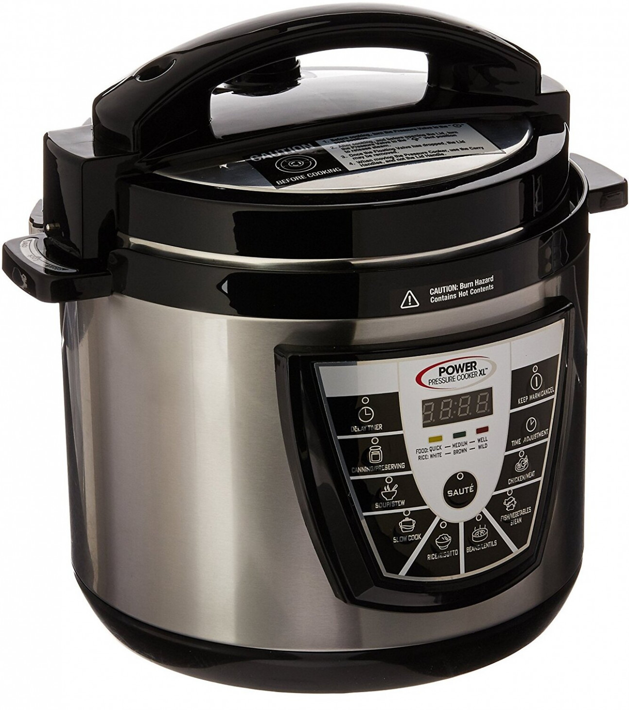 Power Pressure Cooker XL (10-Quart, Silver) with Recipes Cookbook - power cooker xl chicken recipes