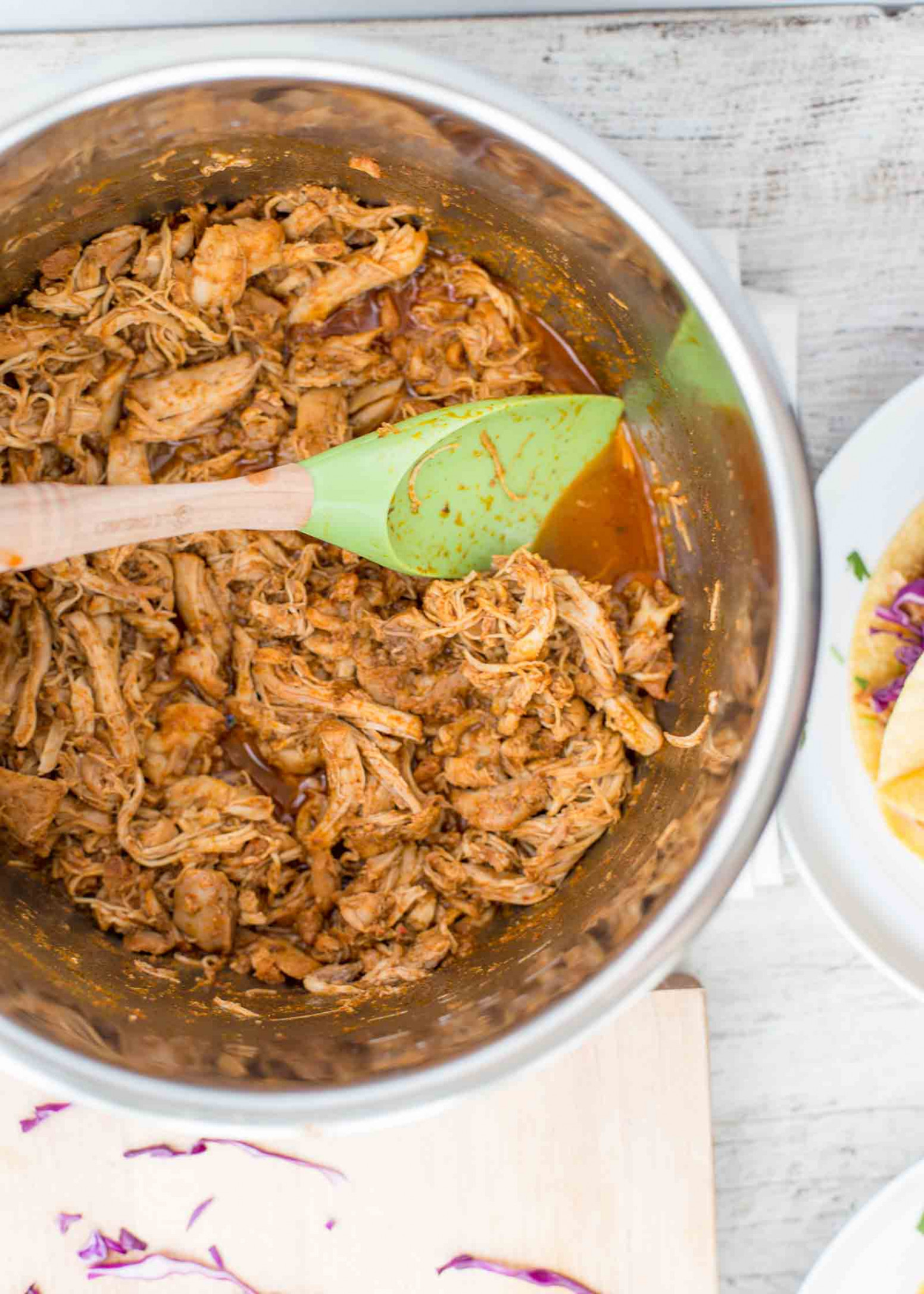 Pressure Cooker Shredded Chicken Taco Meat - taco recipes chicken