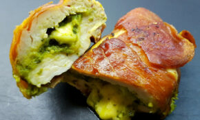 Prosciutto Wrapped Chicken Pesto Www.vfoodjourney
