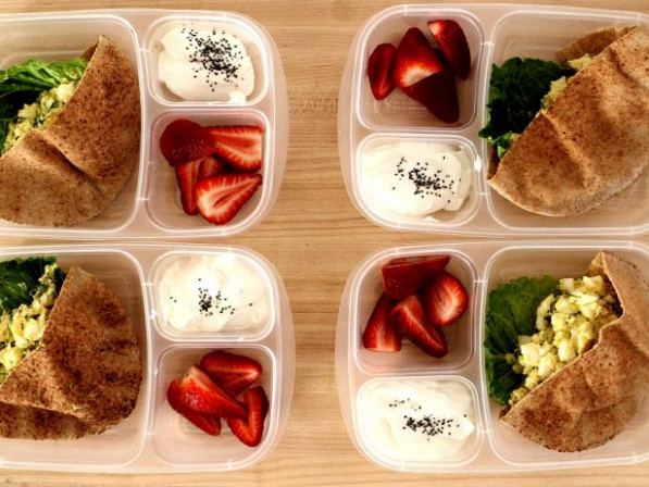 Protein Lunch Box Recipe | Food Network - food recipes for lunch