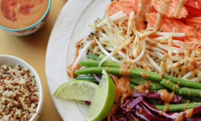 Protein Packed Vegetable Quinoa Bowl With Spicy Peanut Sauce – Vegetarian Quinoa Bowl Recipes