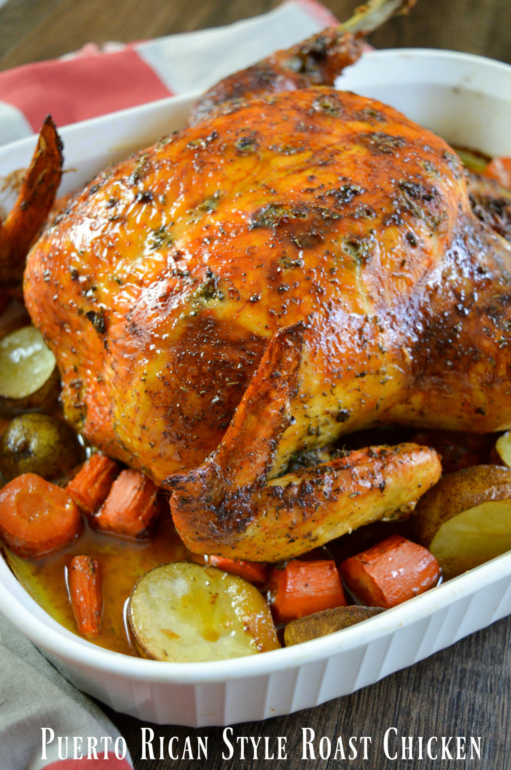 Puerto Rican Style Whole Roasted Chicken Recipe - whole food recipes