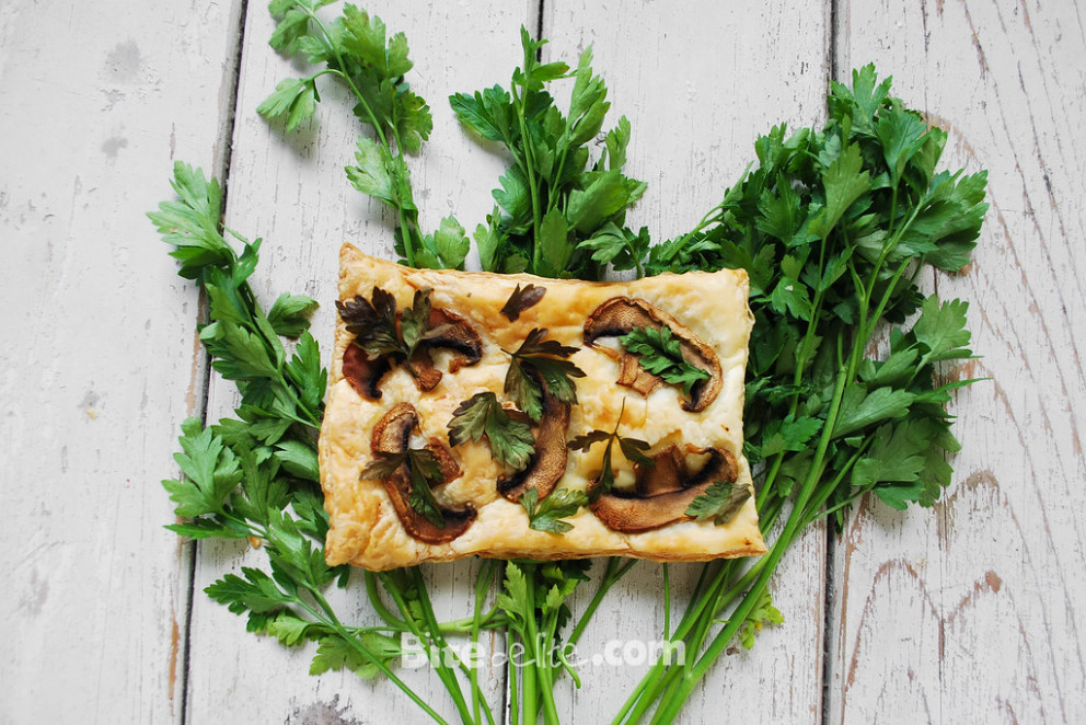 Puff pastry with mushrooms - puff pastry recipes dinner
