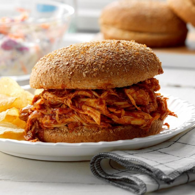 Pulled Chicken Sandwiches Recipe | Taste of Home - recipes pulled chicken