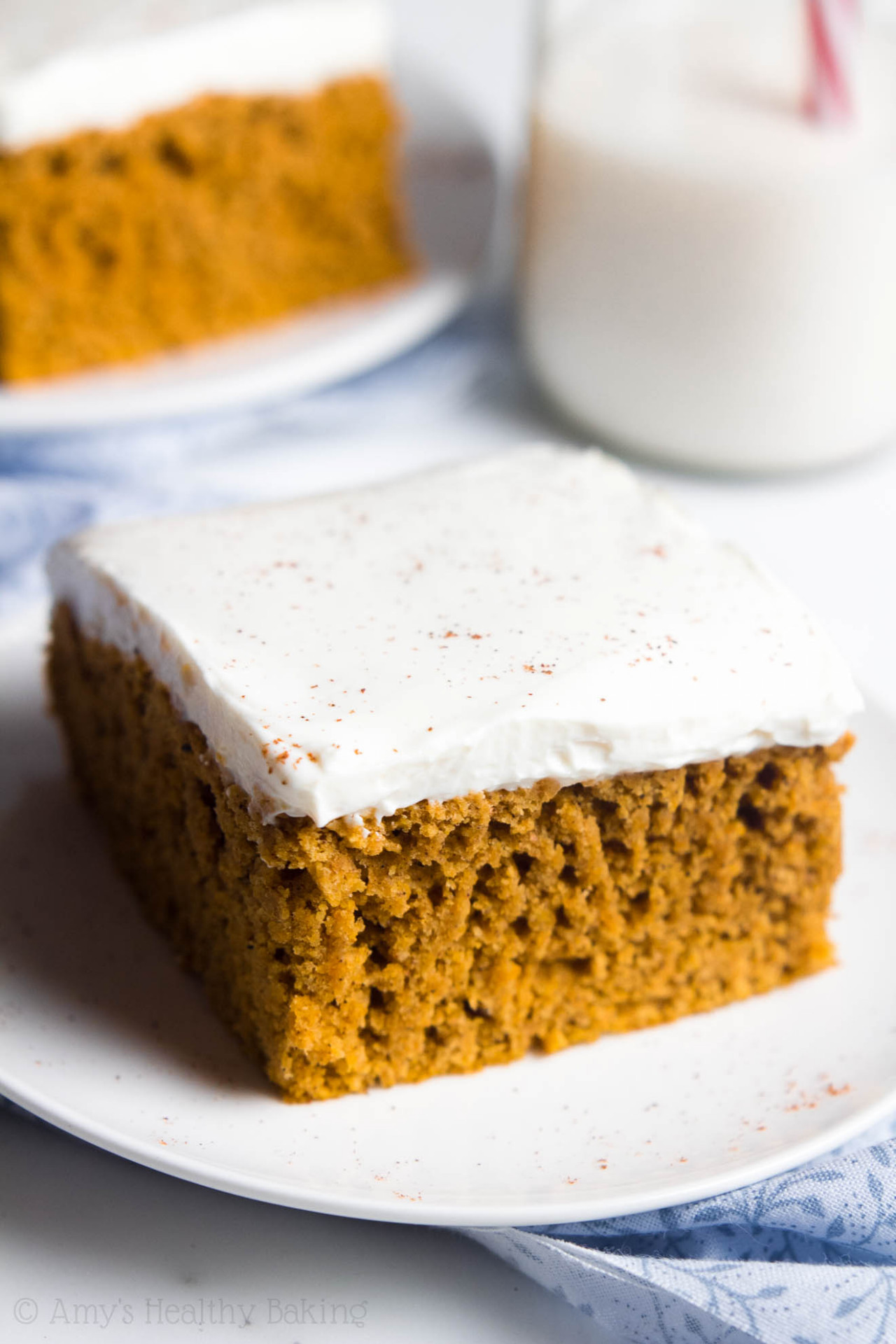 Pumpkin Cake with Cream Cheese Frosting - healthy recipes with xanthan gum