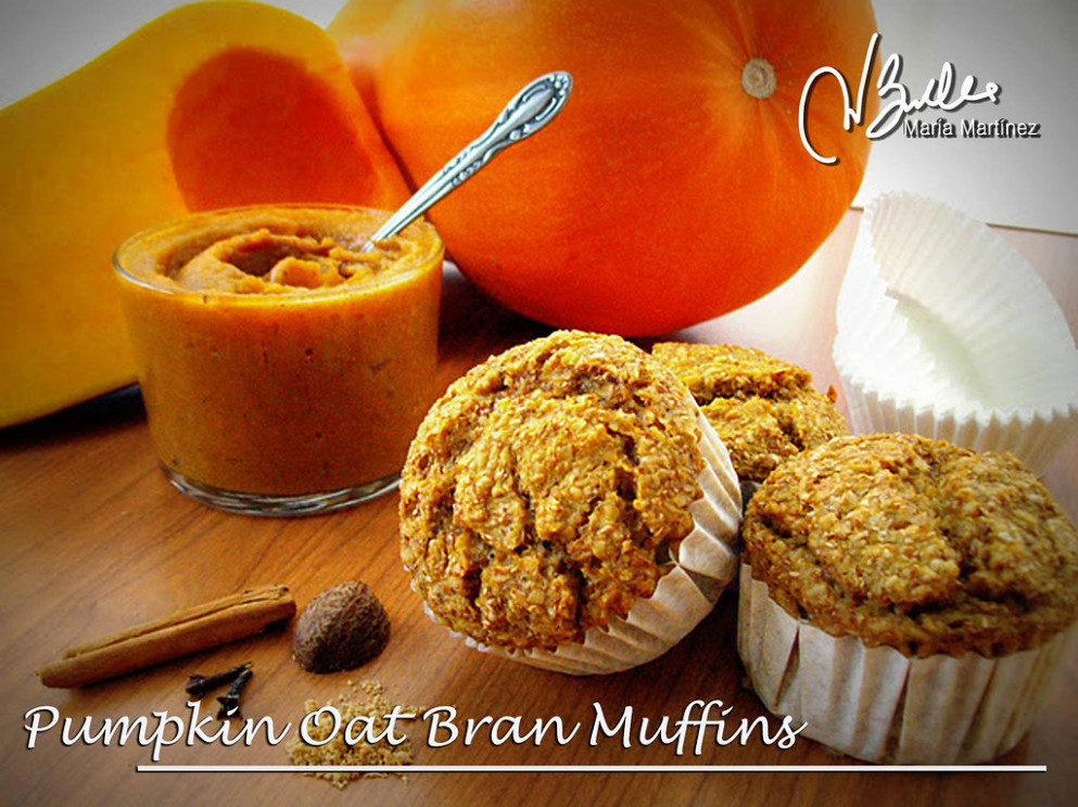 Pumpkin Oat Bran Muffins - recipes good food channel