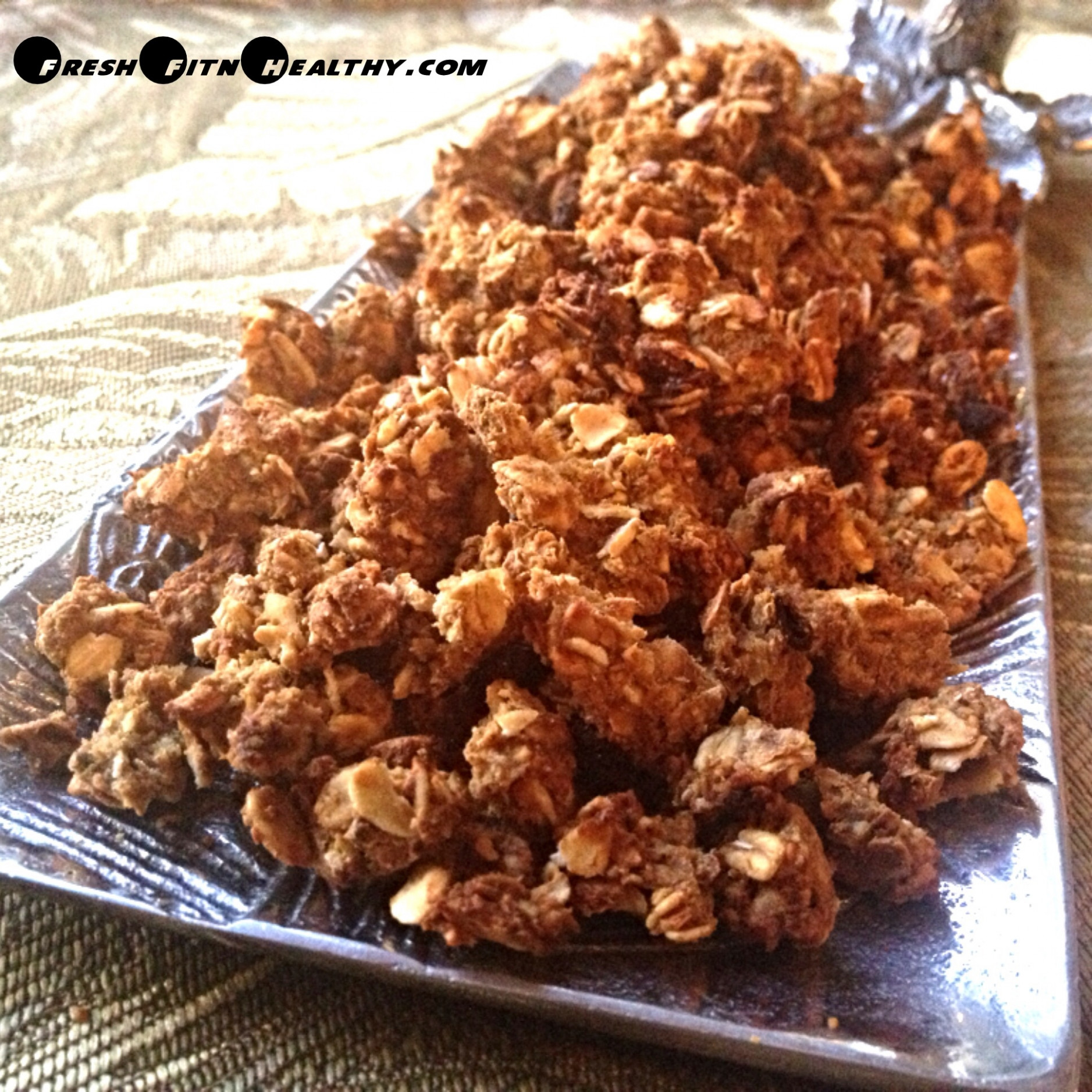 Pumpkin Peanut Butter No Sugar Granola - healthy recipes no sugar