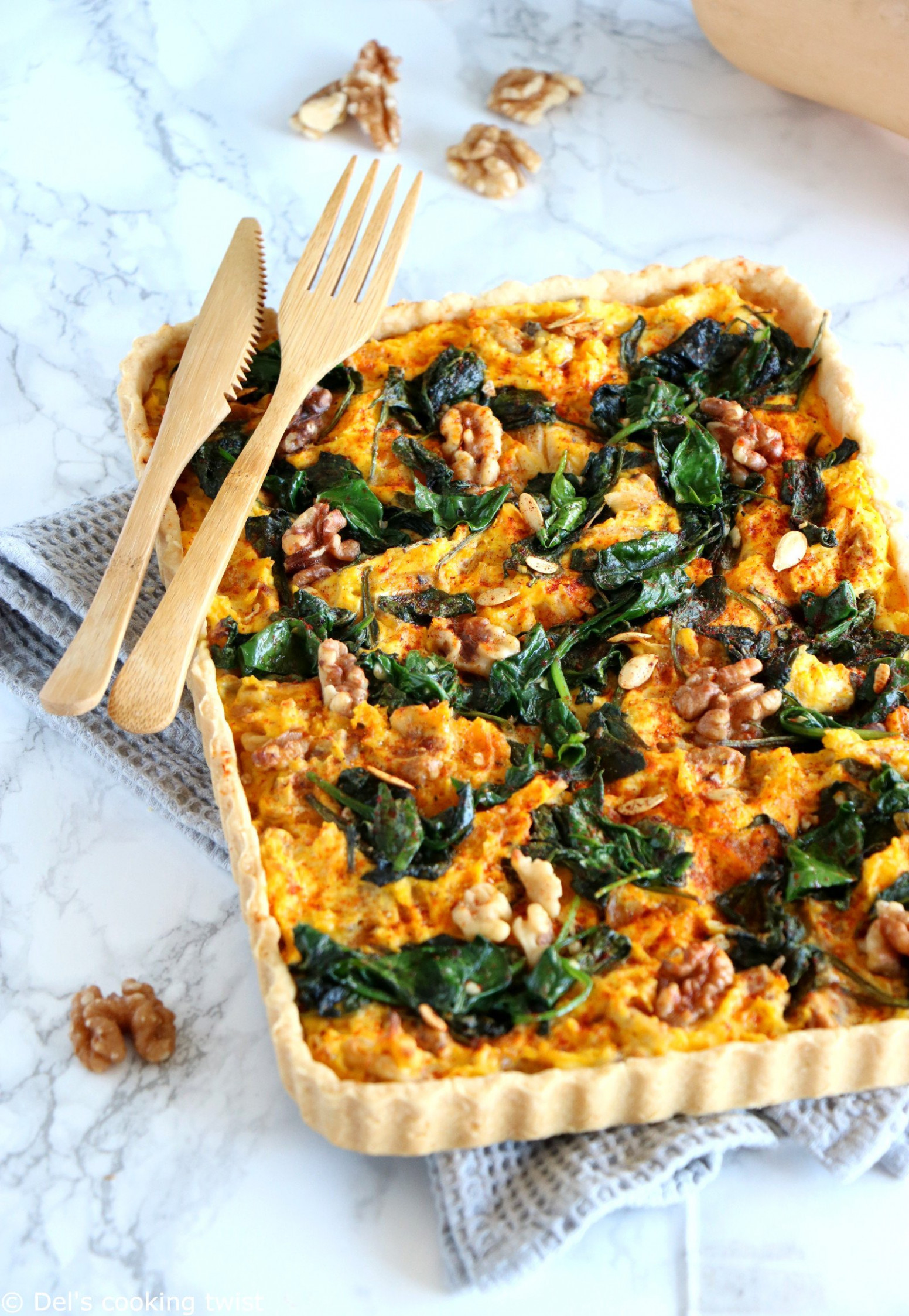 Pumpkin, Spinach And Goat Cheese Quiche – Del's Cooking Twist - Food Recipes Quiche