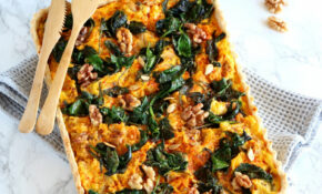 Pumpkin, Spinach And Goat Cheese Quiche | Del's Cooking Twist – Recipe Vegetarian Quiche Spinach