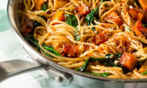 Pumpkin, Spinach And Walnut Spaghetti | Recipe | Pumpkins ..