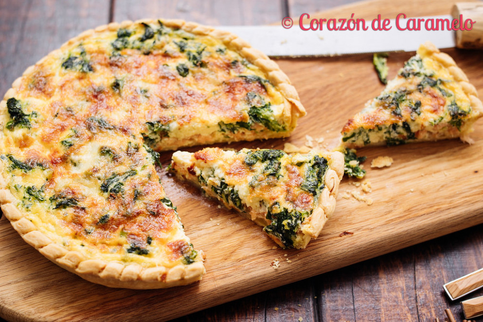Quiché de salmón y espinacas - food recipes quiche