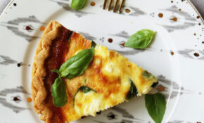 Quiche With Carmelized Onions, Mushrooms, Spinach + Feta Cheese – Recipe Vegetarian Quiche Spinach