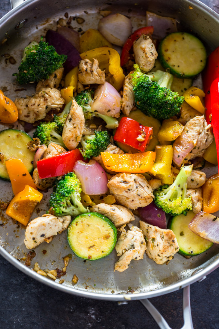 Quick 12 Minute Stir-Fry Chicken and Veggies - recipes dinner quick