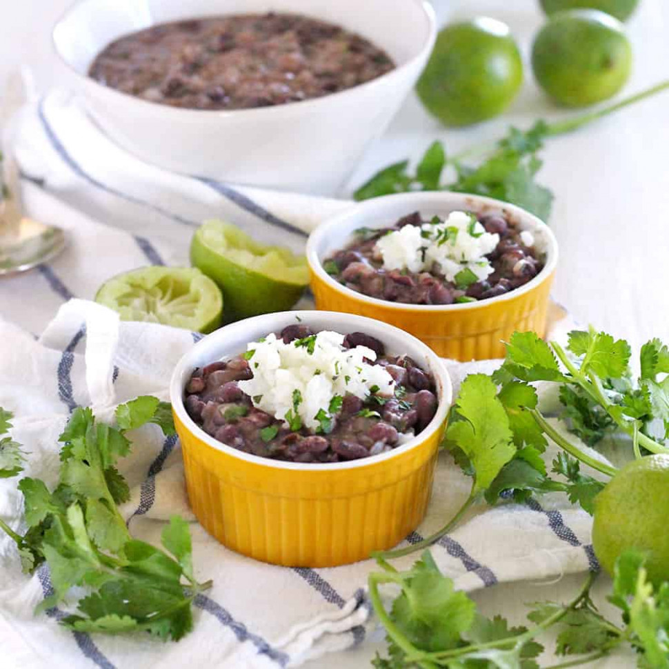 Quick and Easy Black Beans and Rice - Bowl of Delicious - recipes beans and rice vegetarian