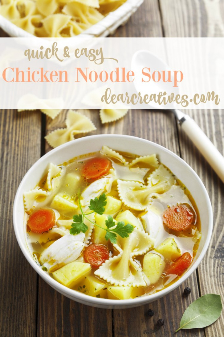 Quick And Easy Chicken Noodle Soup - chicken noodle soup recipes
