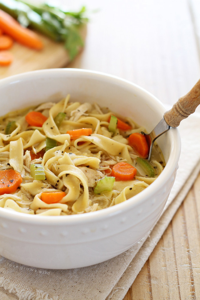 Quick and Easy Chicken Noodle Soup - Love Grows Wild - chicken recipes using chicken stock