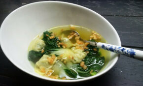 Quick And Easy Chicken Wonton Soup With Bok Choy – Recipe Vegetarian Wonton Soup