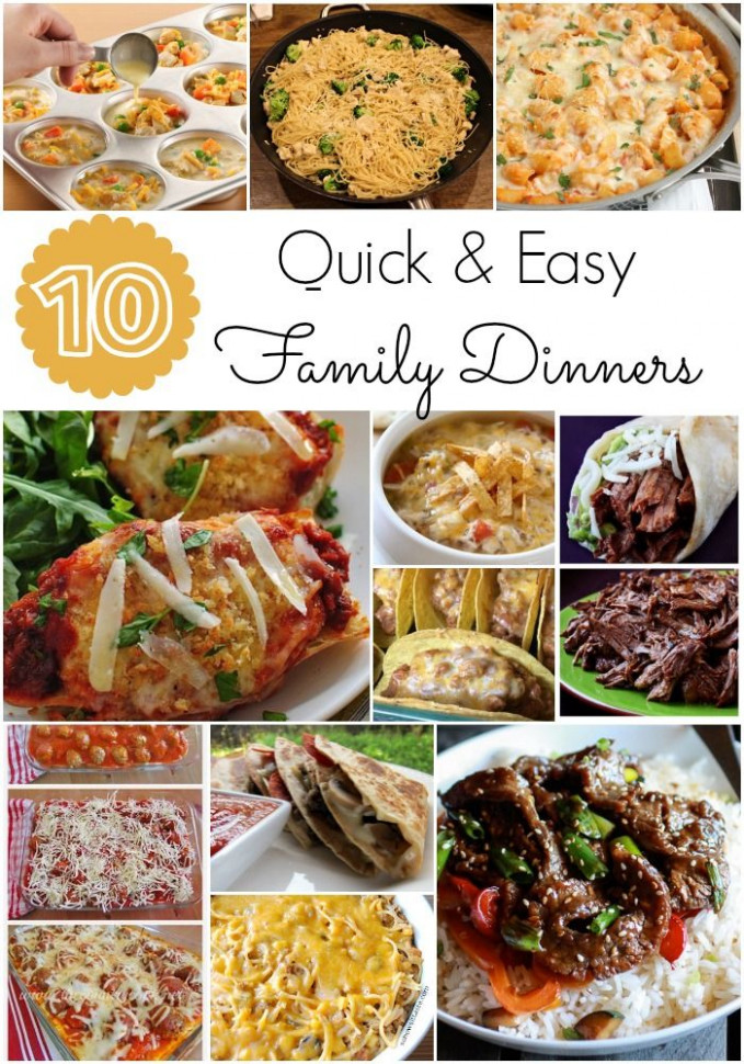 Quick and easy family dinners - I am always looking for ..