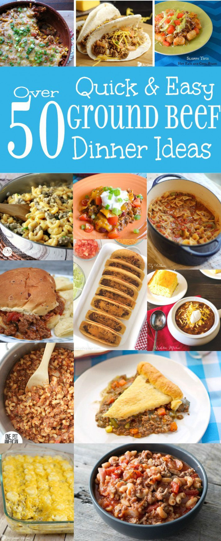 Quick and Easy, Family Friendly Dinner Ideas using Ground ..