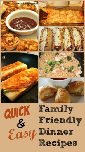Quick and Easy Family Friendly Recipes - Princess Pinky Girl - dinner recipes quick family