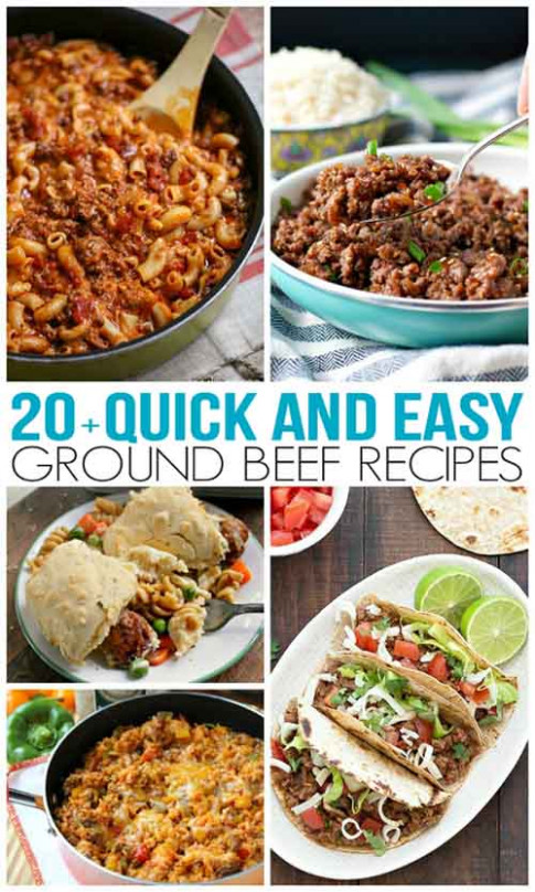 Quick and Easy Ground Beef Recipes - dinner recipes using ground beef