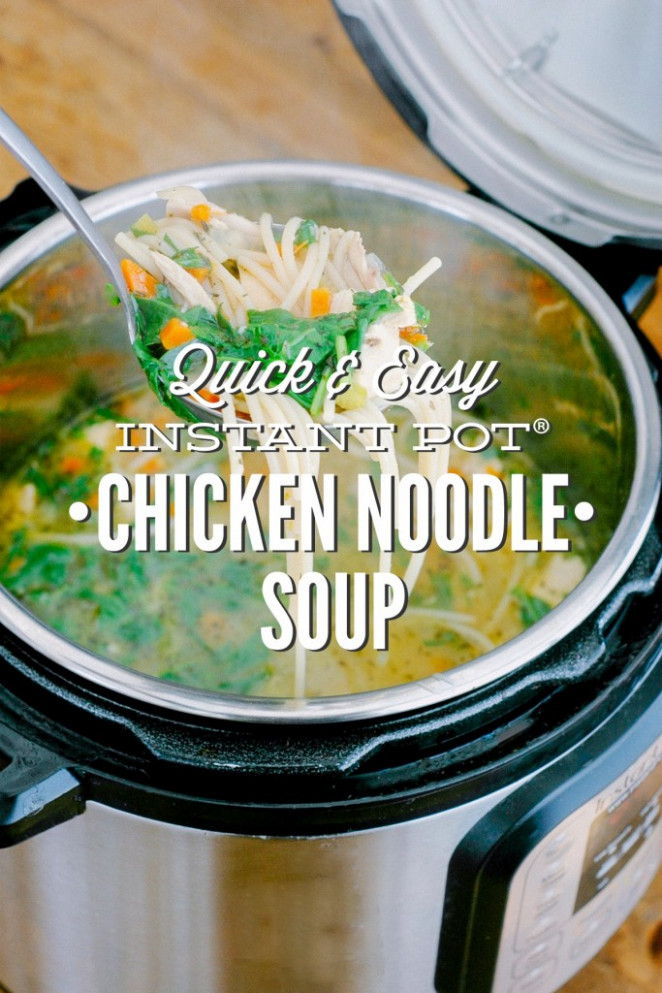 Quick and Easy Instant Pot Chicken Noodle Soup (Pressure ..