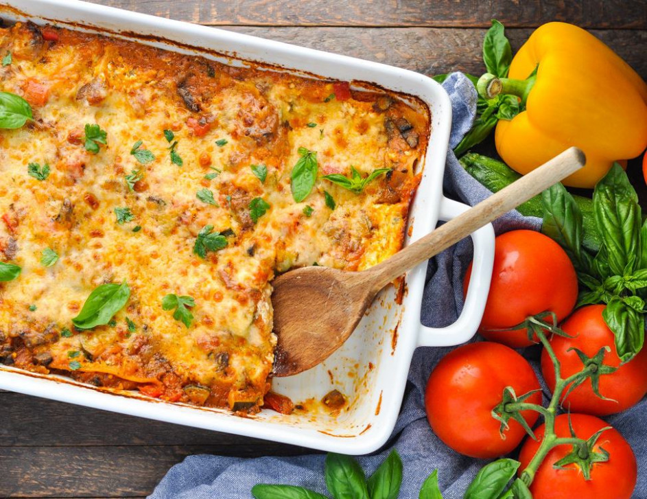 Quick and Easy Vegetable Lasagna - The Seasoned Mom - recipes vegetarian quick