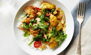 Quick Chicken Curry With Spinach And Peas – Chicken Recipes Martha Stewart