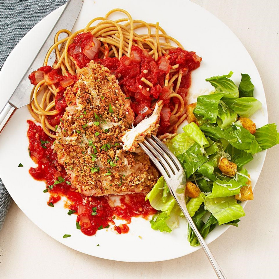 Quick Chicken Parmesan Recipe - EatingWell - recipes lunch healthy