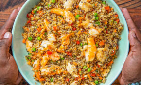 Quick Chicken & Shrimp Fried Quinoa Recipe – Fit Men Cook – Recipes Quinoa Chicken