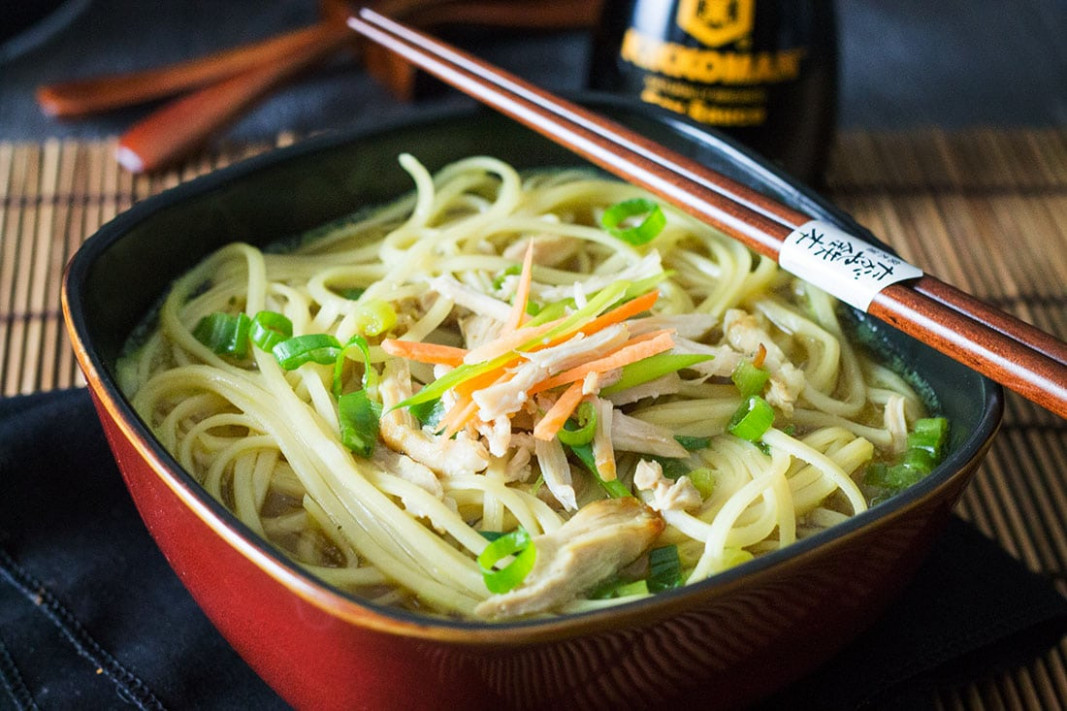 Quick & Easy Chinese Chicken Noodle Soup - Erren's Kitchen - asian food recipes
