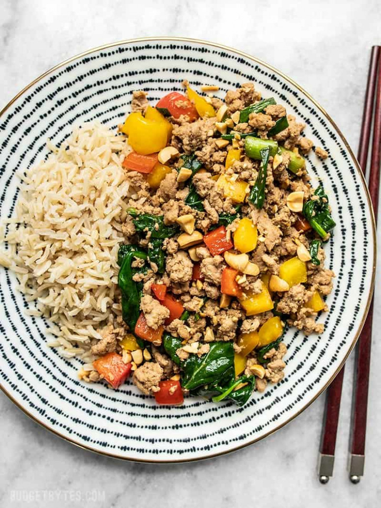 Quick & Easy Ground Turkey Stir Fry - Budget Bytes - healthy recipes ground chicken